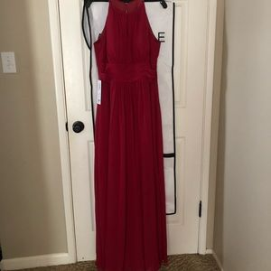 Azazie Bonnie Burgundy Bridesmaid Dress